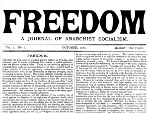 The first issue of Freedom printed in 1886