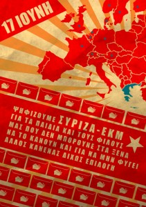 Propaganda poster of SYRIZA for the Greek national elections of 2012