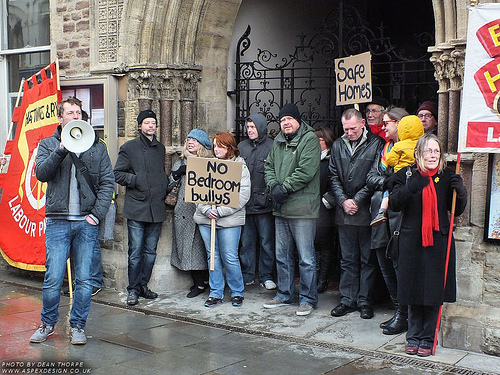 Protesting about the bedroom tax in Hastings, East Sussex (Photo credit: Aspex Design: Photos by Dean Thorpe)