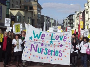Anti-cuts protest in Brighton