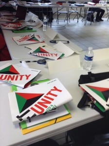 Left Unity broadsheets distributed at the conference