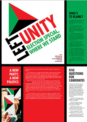 Left Unity materials for the elections
