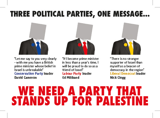 Left Unity leaflet on Palestine