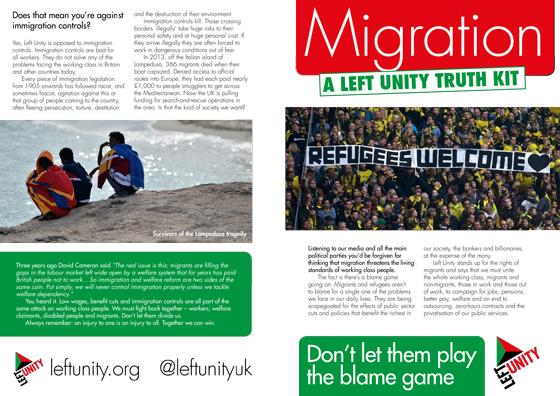 New leaflet: Migration truth kit
