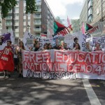 Student bloc led by National Campaign Against Fees and Cuts