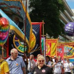 Trade Union banners at Pride 2015