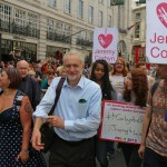 Labour leadership contender Jeremy Corbyn on the march