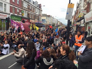 Protest in London against Ankara massacre