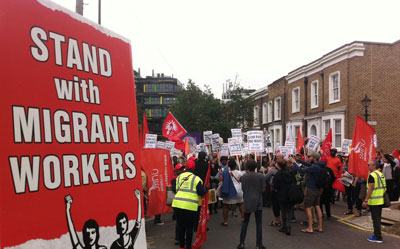 migrant cleaners rights